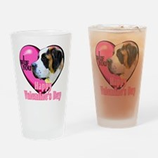 Saint Bernard Valentines Pint Glass