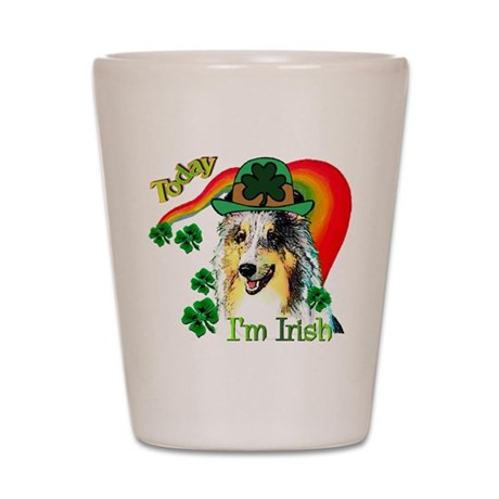 St Patricks Sheltie Shot Glass