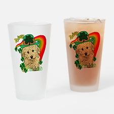 St. Patty Labradoodle Pint Glass