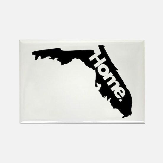 Florida - Home - Black Rectangle Magnet