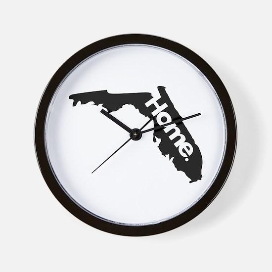 Florida - Home - Black Wall Clock