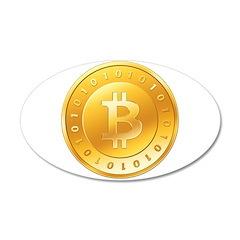 Bitcoins-1 38.5 x 24.5 Oval Wall Peel