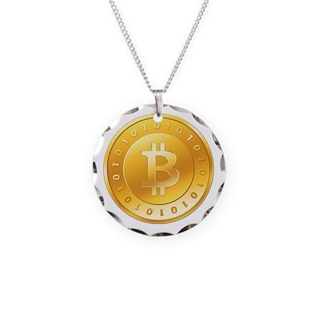 Bitcoins-1 Necklace Circle Charm