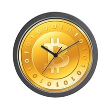 Bitcoins-1 Wall Clock