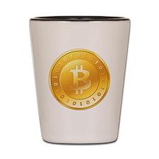 Bitcoins-1 Shot Glass