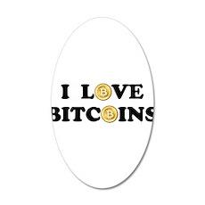 Bitcoins-2 22x14 Oval Wall Peel