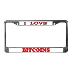 Bitcoins-3 License Plate Frame