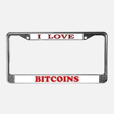 Bitcoins-3 License Plate Frame