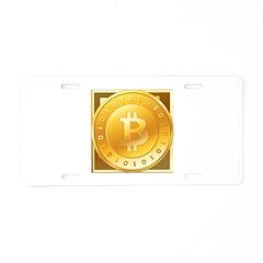 Bitcoins-3 Aluminum License Plate