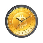 Bitcoins-3 Wall Clock