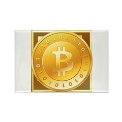 Bitcoins-3 Rectangle Magnet (10 pack)