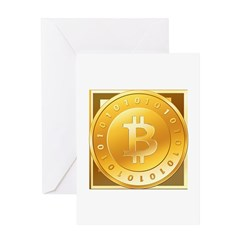 Bitcoins-3 Greeting Card