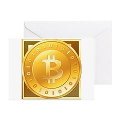Bitcoins-3 Greeting Cards (Pk of 20)