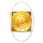 Bitcoins-3 Sticker (Oval 50 pk)