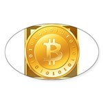 Bitcoins-3 Sticker (Oval)