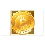 Bitcoins-3 Sticker (Rectangle 10 pk)