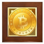 Bitcoins-3 Framed Tile