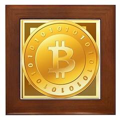 Bitcoins-3 Framed Tile