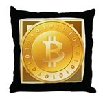 Bitcoins-3 Throw Pillow
