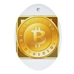Bitcoins-3 Ornament (Oval)
