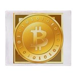Bitcoins-3 Throw Blanket