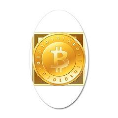 Bitcoins-3 38.5 x 24.5 Oval Wall Peel