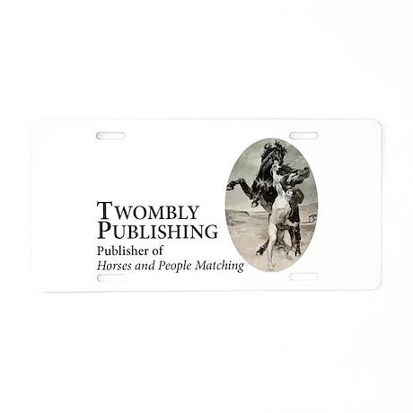Twombly Publishing logo Aluminum License Plate