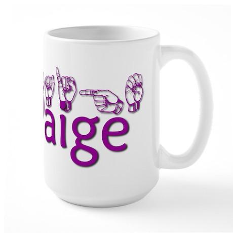 Paige-txt Large Mug