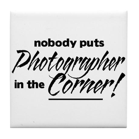 Photographer Nobody Corner Tile Coaster