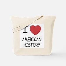 I heart american history Tote Bag