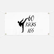 Funny Karate birthday Banner