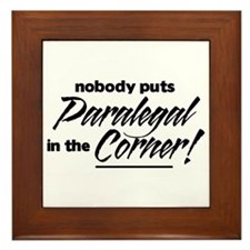 Paralegal Nobody Corner Framed Tile