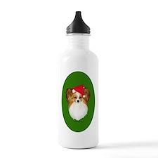 Papillon Christmas Water Bottle