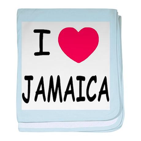 I heart jamaica baby blanket