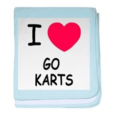 I heart go karts baby blanket