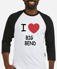 I heart big bend Baseball Jersey