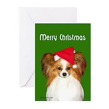 Papillon Christmas Greeting Cards (Pk of 10)