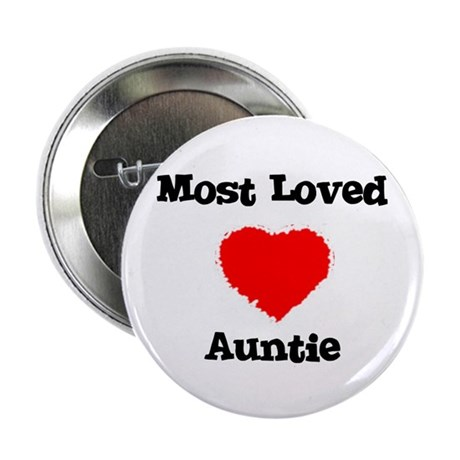 Most Loved Auntie Button