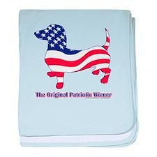 Original Patriotic Wiener baby blanket