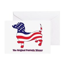 Original Patriotic Wiener Greeting Card