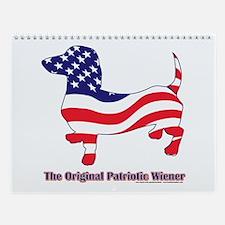 Original Patriotic Wiener Wall Calendar