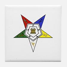 O. E. S. Emblem Tile Coaster