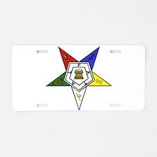 O. E. S. Emblem Aluminum License Plate