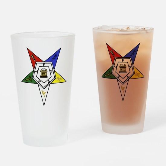 O. E. S. Emblem Drinking Glass