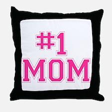 #1 MOM Throw Pillow