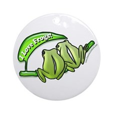 I Love Frogs! Ornament (Round)