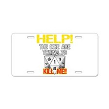 Killer Dice Aluminum License Plate