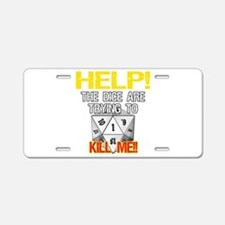 Killer Dice Aluminum License Plate