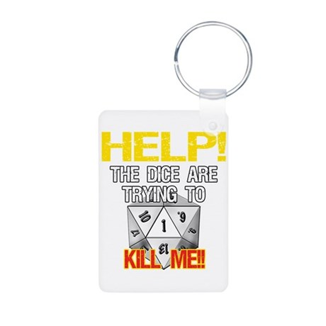 Killer Dice Aluminum Photo Keychain