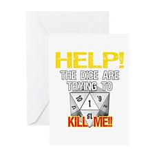 Killer Dice Greeting Card